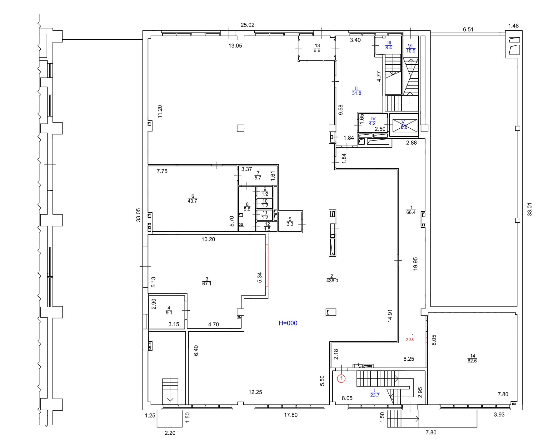 Офісне приміщення. Загальна площа 713,3 м2